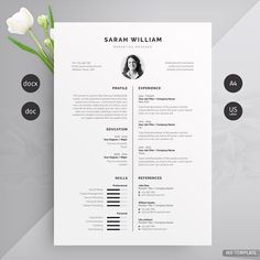 Resume/CV by Mr-Template #modern #resume #template #CV #design #business #work #profesional #photoshop