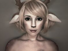 Dear deer by *Helen-Stifler on deviantART... How cute... I kind of want my bangs like that. Not to mention, this would be just an adorable costume.