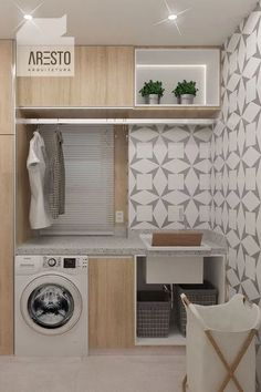 120 brilliant laundry room ideas for small spaces – practical & efficient pag. - 120 brilliant laundry room ideas for small spaces – practical & efficient page 1 - Laundry Room Cabinets, Laundry Room Organization, Modern Laundry Rooms, Laundry Room Inspiration, Laundry Room Design, House Rooms, Bathroom Interior, Home Interior Design, Small Spaces