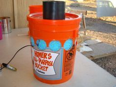 How to make a really effective air conditioner with a 5 gallon bucket and a few other things.