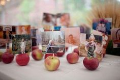 apples as photo holders