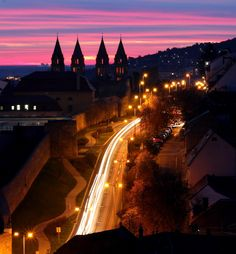 Pécs and the four tower of the Cathedral Danube River, Central Europe, Slovenia, Hungary, Romania, Budapest, The Good Place, Cathedral, Landscape
