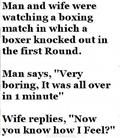 Unsatisfied Wife, Husband, Boxing Match, Funny Jokes, Funny Photos, Funny Quotes, Funny Captions, Humor, GAG, Jokes, joking, LOL, LMAO, LMFAO, ROFL, ROFLCOPTER