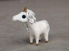 Tiny unicorn- Handmade miniature polymer clay animal figure