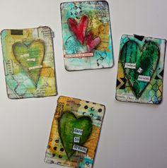 52 card pickup mixed media cards