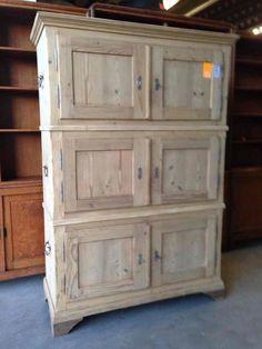 antique pine chest on chest kofferkast from Europe - 04 Restored Antique Pine Furniture - Davidowski