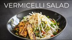VERMICELLI NOODLE SALAD RECIPE | VEGAN VIETNAMESE STYLE TOFU MEAL IDEA! Tofu Recipes, Asian Recipes, Vegetarian Recipes, Ethnic Recipes, Asian Foods, Vietnamese Recipes, Vermicelli Salad, Vermicelli Noodles, Dinner Salads