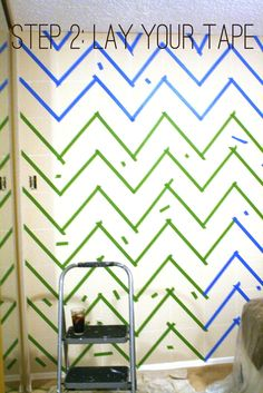 """[life of love]: DIY Tutorial: How to chevron paint a wall....I""""m gonna try this, please rub your belly, pat your head, bounce on one foot and pray to Buddah I can pull it off....or just wish me luck...."""