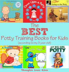 The BEST Potty Training Books for Kids (according to a three year old!). Get these books to encourage your child in the process!