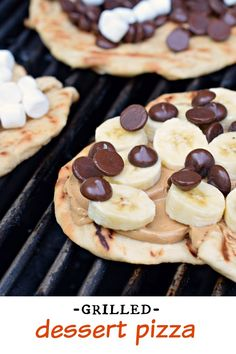Make your next pizza on the grill with this delicious DESSERT Pizza recipe (includes the perfect crust recipe too)!