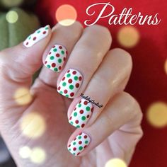 """December Nail Art Challenge.. Day 1 - Patterns  The Christmas mani's have officially started!!! Enjoy! Used Essie's blanc as base & acrylic painy for…"""