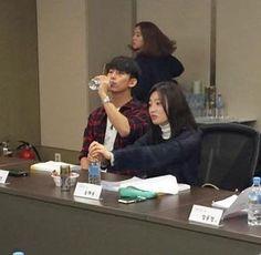 Main roles script reading Touching You, Korean Drama, Script, Reading, Script Typeface, Drama Korea, Scripts, Reading Books, Kdrama