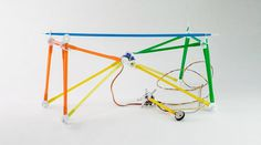 Make Your Own Programmable Robots with Drinking Straws!