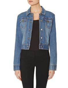 Denim Jacket from THELIMITED.com #TheLimited shawn closet, seasonless jacket, jackets, thelimitedcom thelimit, the limited, person style, denim jacket