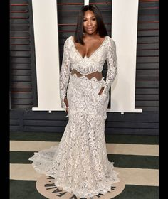 Serena Williams attends the 2016 Vanity Fair Oscar Party [WireImage]
