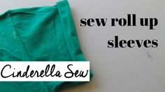 Roll up sleeves and sew in place - Easy hand sewing cuffed sleeves - Cin...