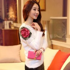 Sweater Women Sale Sweater South Korean Women Hedge Rose Type Of New Fund 2015 Autumn Winters Mohair Render Bats Knit Pullovers