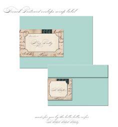 French Postcard Envelope Wrap Label [create] | ballarddesigns.com