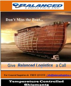 #TRANSPORTATION SERVICES to / from  CANADA and USA. Don't miss the boat!