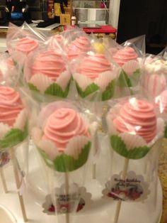 Pink Roses Cake Pops
