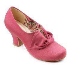 My favorites vintage style 1940s shoes - Donna Heels - Flexible, lightweight ladies slip-on - Dark Pink