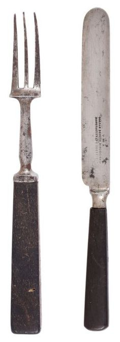 CONFEDERATE MESS KNIFE AND FORK