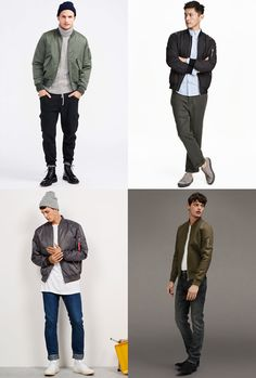 Men's MA-1 Bomber Jacket Outfit Inspiration Lookbook For Autumn/Winter 2016
