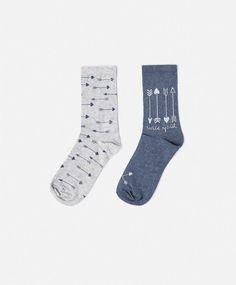 Lot de deux paires de chaussettes flèches - OYSHO