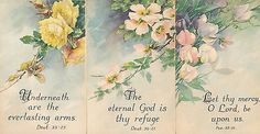 Lot of 3 Greetings Postcards with Bible Verses Religious c. 1910-Unused-hhh177