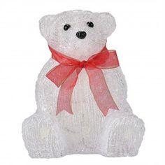 [in.tec] Orso polare luminoso LED 20cm Decorazione natalizia Illuminazione In acrilico Con fiocco Piccolo personaggio luminoso 17,50 € #natale #decorazione #luminoso #orso #polare #piccolo #illuminazione