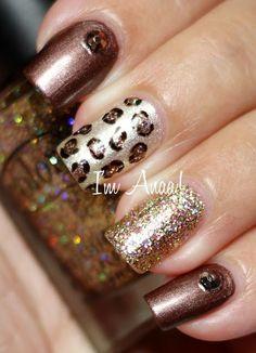 Leopard Skittlette nails