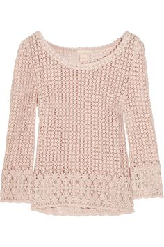 Collette by Collette Dinnigan   Seed of Love crochet-knit cotton top   NET-A-PORTER.COM