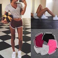 Donna Shorts Sport Tuta Da Corsa Palestra, Allenamento Elastico Skinny Yoga