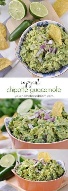 Copycat Chipotle Guacamole  - tastes just like the real thing!