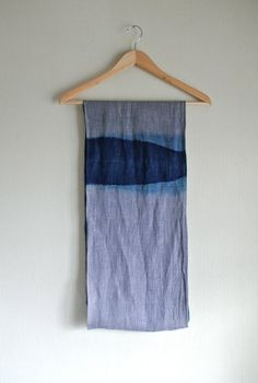 Linen Natural Dyes  indigo | blues