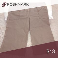 Charlotte Russe khaki capris Never worn!! Tank khaki capri pants, multiple pockets. Can go from day to night, business casual to after work. Charlotte Russe Pants Capris
