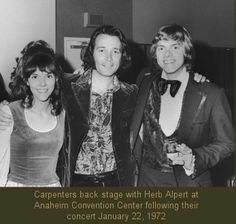 Karen and Richard Carpenter Biography   Carpenters Join A&M 6) On The Charts 7) The Carpenters Legacy 8) At ...