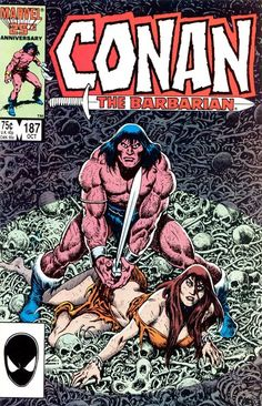 "Conan the Barbarian vol. 1 #187, ""Resurrection"" (October, 1986). Cover by Ernie Chan."