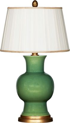 Verde Green Ceramic Table Lamp - love these - remind us of Spitzmiller but a fraction of the cost