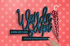 Wanda Script is a modern font that recreate the Pin-Up style. You can use it to recreate modern / vintage pin-up style logos and artworks.