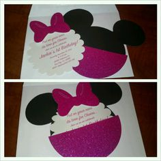 Minnie Mouse Invitation Minie Mouse Party, Minnie Mouse 1st Birthday, Minnie Mouse Baby Shower, Baby 1st Birthday, Mickey Party, 3rd Birthday Parties, Birthday Stuff, Birthday Ideas, Decoration Minnie