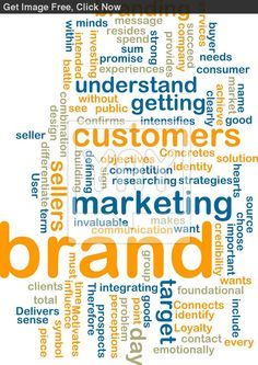 Royalty Free Image of Brand Marketing Wordcloud