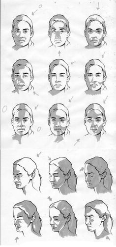 Female facial light study by Charlie Kirchoff || CHARACTER DESIGN REFERENCES | Find more at https://www.facebook.com/CharacterDesignReferences if you're looking for: #line #art #character #design #model #sheet #illustration#expressions #best #concept #animation #drawing #archive #library #reference #anatomy #traditional #draw #development #artist #pose #settei #gestures #how #to #tutorial #conceptart #modelsheet #cartoon