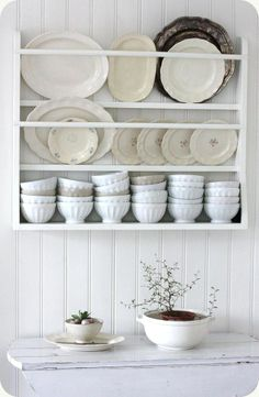 Looking for a plate rack like this for my dining room only wider to fit the wall