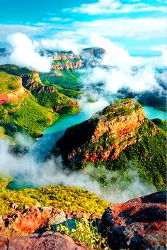 15 Beautiful Places That You Shouldnt Miss If You Travel To Africa: Blyde River Canyon - Mpumalanga, South Africa from Noetic Soul https. Places To Travel, Places To See, Travel Destinations, Vacation Places, Holiday Destinations, Vacations, Beautiful Places To Visit, Beautiful World, Africa Travel