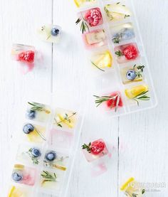 Dainty Summer Party Cubes. Recipe in our free 'Just Add Water' eBook. – I Quit Sugar