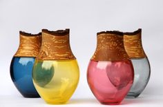 Colourful vessels showcase new twist on glass blowing.