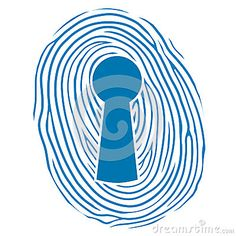 Fingerprint over a lock keyhole