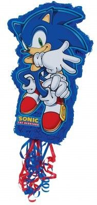 A Sonic the Hedgehog party must have a Sonic the Hedgehog pinata. Love the colors. #sonicthehedgehog