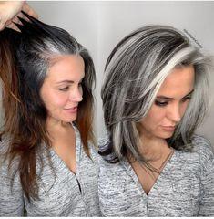 Medium Hair Styles, Curly Hair Styles, Grey Hair Styles For Women, Long Hair Styles Boys, Silver Hair Styles, Gray Hair Women, Hair Color For Women, Grey Hair Transformation, Gray Hair Highlights